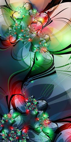 """-NeonSymphony- by =silwenka FRACTAL fractal - Noun A curve or geometric figure, each part of which has the same statistical character as the whole. Adjective Relating to or of the nature of a fractal or fractals: """"fractal geometry""""."""