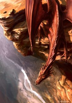 """Oh Jesus that is scary... You know I'll just stay here..."" Imagine a dragon scared of heights"