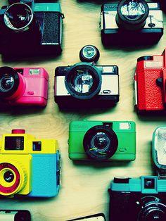 Cameras. By Juliana Mi. #camera #photo #machine