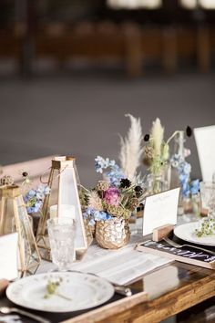 Fun & Eclectic Foodie Wedding Ideas via TheELD.com | Eclectic, gold centerpiece design | Dairing Events, Brooke Images