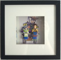 Lego Woody & Buzz Lightyear on Lego bricks with postcard background wall art. Framed and presented ready to put on your wall. Box Frame is black finish and ready to hang on your wall with clips on the back. Lego Frame, Woody And Buzz, Buzz Lightyear, Lego Brick, I Am Game, Box Frames, Christmas Presents, Toy Story, Wall Art