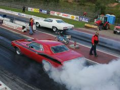 The Chase is on!   (Mopar chasing down 1966 Chevy Impala)