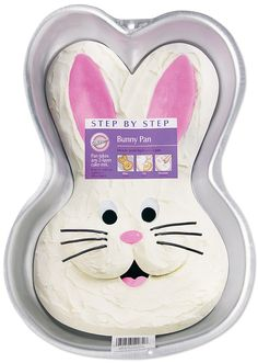 WILTON- Step-By-Step Cake Pan, Bunny. Just what you need to get springtime celebrations hopping-just bake, ice and decorate! He is also perfect for molded gelatin, ice cream, salads and more. One-mix pan is deep. Easter Bunny Cake, Bunny Party, Bunny Birthday, Easter Party, 2nd Birthday, Bunny Cakes, Birthday Ideas, Easter Food, Easter Dinner