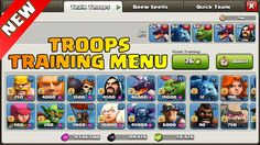 Clash Of Clans New Update October 2016 - All New TroopsTraining Menu. Clash of clans october 2016 update all new troops training menu. Clash Of Clans New Troops training menu october 2016 update. Clash of clans army training & quick train. New army training menu and quick train menu clash of clans october 2016 update.  Clash of Clans Update - a completely new training system is coming to Clash! Prepare to be able to save multiple army compositionstrain entire armies with a touch of one…