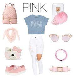 """""""P!NK """" by xdeenax ❤ liked on Polyvore featuring MICHAEL Michael Kors, Le Specs, Kate Spade, Ashlyn'd and Vans"""