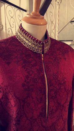 Asifa&Nabeel Indian Wedding Suits Men, Sherwani For Men Wedding, Indian Groom Wear, India Fashion Men, Indian Men Fashion, Mens Fashion Wear, Gents Kurta Design, Kurta Neck Design, Kurta Designs