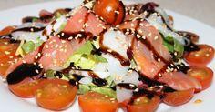 ensalada, salmón ahumado, trucha ahumada, bacalao ahumado, Julia y sus recetas, salad, ensalada de salmón, ensalada de trucha, ensalada de bacalao, dieta mediterránea, cocina sana, cocina saludable, cocina tradicional, receta de temporada, receta de verano, receta de invierno, receta de otoño, receta de primavera, typical spanish