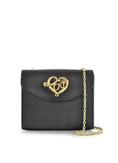 Love moschino borse donna eco leather crossbody bag wheart buckle forzieri rosa pelle