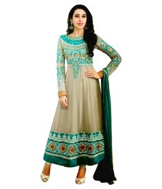 Eliza 3 Turquoise Georgette Semi Stitched Suit - http://www.zazva.com/shop/women/clothing-and-accessories/women-clothing/women-ethnic-wear/women-salwar-kameez/eliza-3-turquoise-georgette-semi-stitched-suit/ Embroidered Anarkali Dress Material Color : Turquoise Fabric : Faux Georgette Disclaimer : Eliza 3 presents Beautifully designed ethnic wear, simple yet elegant dress materials. A complete set of top with lining, salwar and dupatta. Dry clean only.  #AnarkaliSuits, #Salw