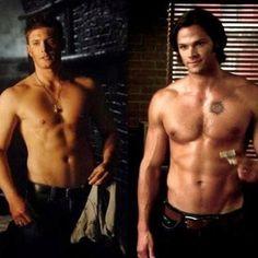"Jensen Ackles and Jared Padalecki from ""Supernatural"" <3 HaPpY BiRtHdAy JARED!!!! :)"