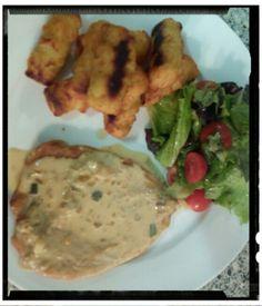 Maincourse#chickenfilet#potatocroquettes#sauce,wine/cream/gurken/tarragon#cream