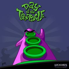 Day of the Tentacle was some of the best adventure gaming ever. Vintage Video Games, Classic Video Games, Day Of The Tentacle, Eddie The Head, Lucas Arts, Adventure Games, Old Games, The Good Old Days, Game Design