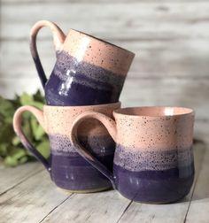 Pink & Purple Mug, Pottery Mug, Handmade Mug, Ceramic Mug, Mothers Day, Farmhouse Mug, Coffee Mug, Coffee Gift, Cute Mug, Ultra Violet