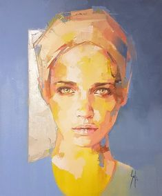 Yellow portrait of a woman