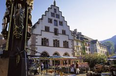 Freiburg, Germany. Another beautiful city (no shortage of these in Germany!). If you go, take the time to make the hike up into the forest/hills. There's a great tower you can climb, and get an amazing view of the city and surrounding area!