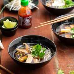 Chai-Spiced Vegetarian Pho Chay by - Beef Back Ribs, Beef Ribs, Vietnamese Salad Rolls, Thai Dipping Sauce, Vegetarian Pho, Pho Noodle Soup, Pork Noodles, Pho Recipe, Chicken Spring Rolls