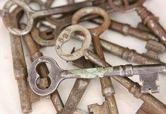 Assortment of old keys