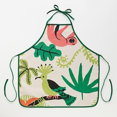 【MOZI】世界で人気!メルボルン発の動物モチーフがかわいい雑貨♪  The Out Of Africa Collection (アフリカコレクション) kids apron - jungle canopy (子供エプロン ジャングルキャノピー)