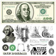 Vector 100 Dollar Bill Template