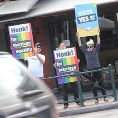 HONK for Marriage Equality! If you haven't sent your postal survey back do it today! #PostYourYes #EqualityisUnionBusiness #ProudtobeUnion @fsunion @qnmuofficial @theservicesunion . . . . #marriageequality #VoteYES # #AusPol #LoveisLove #Brisbane #Pride #LGBTIQ #Australia #SayYesToLove