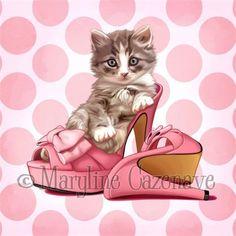 Maryline Cazenave, (French artist/illustrator). Коты и собаки.. Обсуждение на LiveInternet - Российский Сервис Онлайн-Дневников
