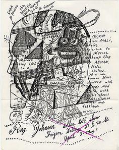 Ray Johnson mail art to John Held