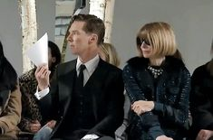 Benedict Cumberbatch at Hugo Boss show: Oh, stop fanning. You're the reason it's so hot in there!