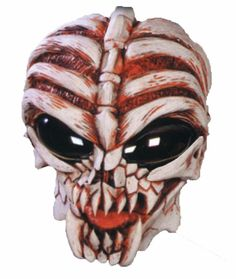 Alien UFO Area 51 Latex Mask Space Invader Extra Terrestrial Adult Prop Sci Fi #HouseOfHauntz #AlienSkeletonMask #Halloween