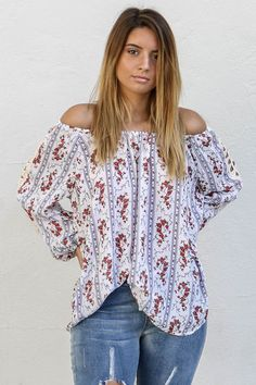 864f8feec3b2 Meet Up Off White Floral Print Top New Fashion Trends