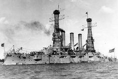 U.S.S. Missouri on patrol in the Pacific, 1903.