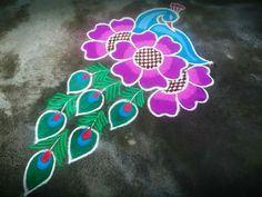 Colorful Rangoli Designs, Rangoli Designs Diwali, Diwali Rangoli, Beautiful Rangoli Designs, Kolam Designs, Easy Rangoli, Mandala Design, Mandala Art, Pookalam Design