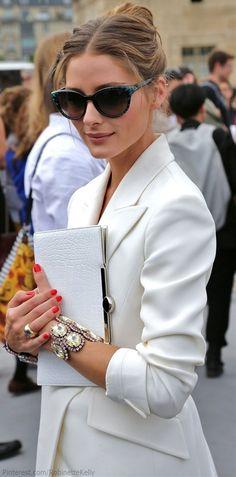 Olivia Palermo at fashion week. More