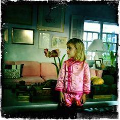 Pink Pajamas - Photo by india hicks style