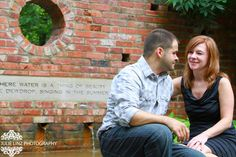 The soon to be Mr. and Mrs. at Inniswood Metro Gardens by Julie Linz Photography.
