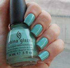 China Glaze For Audrey - perfect tiffany blue