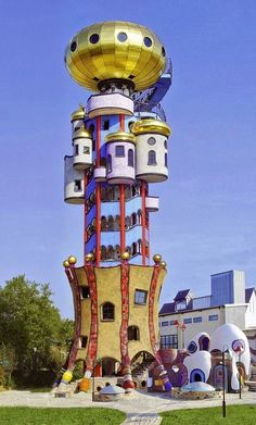 The Kuchlbauer Tower is an observation tower designed by Austrian architect Friedensreich Hundertwasser on the grounds of the Kuchlbauer Brewery in Abensberg, a town in Lower Bavaria in Germany.