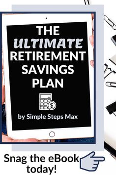 Planning for retirement is perhaps the single most important aspect of personal finance. This eBook will ensure you are saving in the best ways, investing your money in the best funds and are confident you are saving the right amount of money to comfortably retire when you're ready. #retirement #financialtips #personalfinance #investing