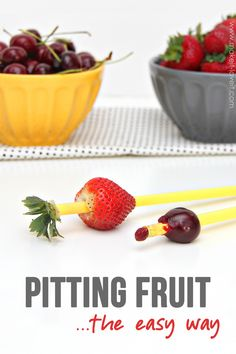 Pitting Your Fruit…the EASY way! (no special gadgets needed)