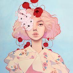 """""""Pink Eye"""" Artist Proofs by Kelsey Beckett"""