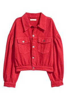 Veste courte en jean - Rouge - FEMME   H M FR. Mode AdosModèle CourtVeste  ... 32df6fb5c9c