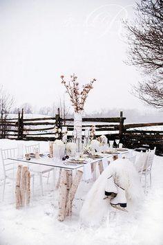 {holiday soirée inspiration : a winter wonderland}   Flickr - Photo Sharing!
