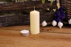 Κεριά Κυλινδρικά Εκρού Φ4x10εκ