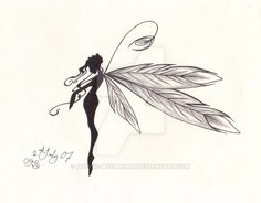 pretty feathered fairy by Gothic-Moonlight.deviantart.com on @DeviantArt