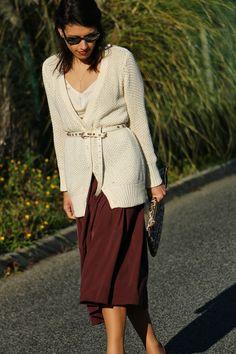 I love Fita Métrica: Marsala Skirt