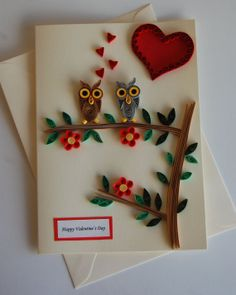 Valentine's card happy valentine's Day by The Beauty of Quilling