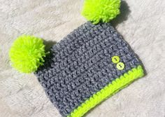 double pompom yellow by fridaysfactory on Etsy