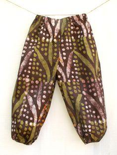 Batik , Sarouel africain pour enfant en bazin teinté batik, pantalon  africain enfant unisexe,
