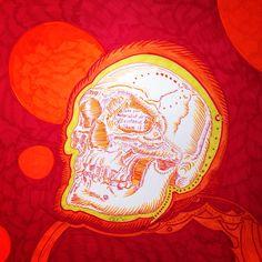 Lüthårt   #Skull Series No. 45  ##calaveras #skulls #ink #art #arthamptons #arthampton #sagharbor #Lutha #graphicart #surfart