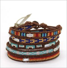 Chan Luu seed beads bracelet: I made something similar to this today! =)