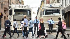 Customised anti-demonstration trucks were used to block streets in Oslo (Norwegian capital) during Constitution Day of May in response to the increased terror threat Law Enforcement Agencies, Law Enforcement Officer, Constitution Day, Work Images, No Response, Police, Oslo, Street, Trucks